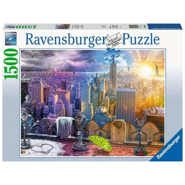 RAVENSBURGER 16008 - Puzzle - New York im Winter und Sommer, 1500 Teile