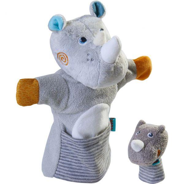 HABA 305755 - Handpuppe - Nashorn mit Baby