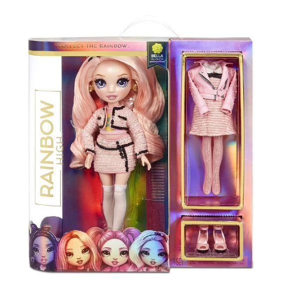 MGA 570738EUC - Rainbow High - Bella Parker, Fashion Doll Pink