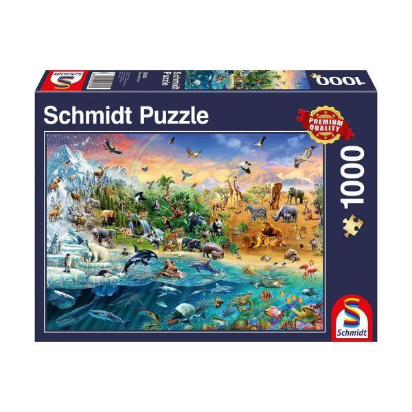 SCHMIDT 58324 - Puzzle - Die Welt der Tiere, 1000 Teile