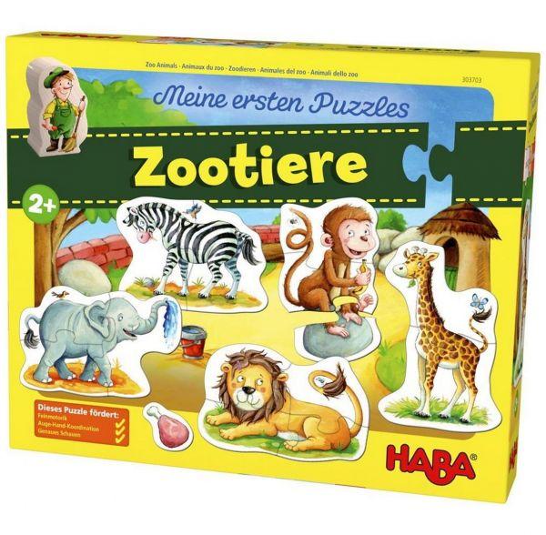 HABA 303703 - Meine ersten Puzzles - Zootiere, 5 Motive
