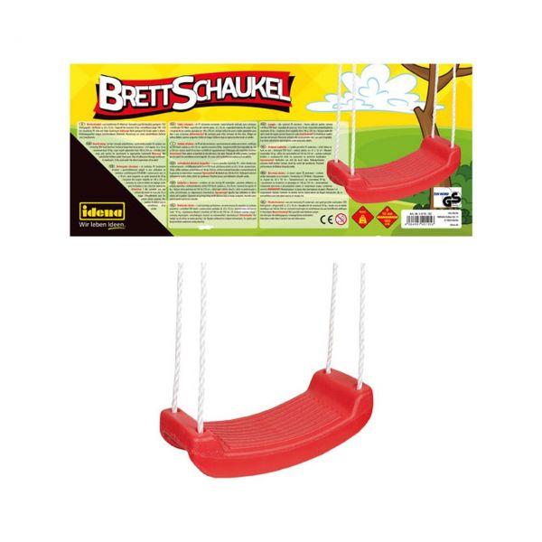 IDENA 40195 - Gartenspielzeug - Brettschaukel Rot, 42x18cm