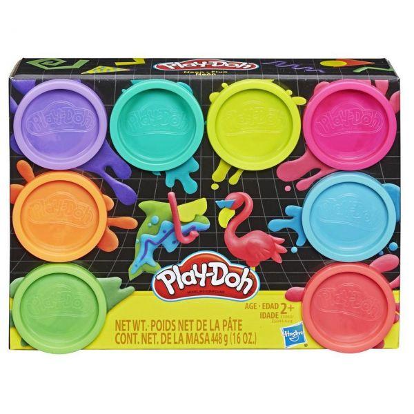 HASBRO E5063 - Play-Doh - Neonfarben, 8-er Pack