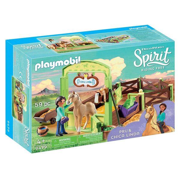 PLAYMOBIL 9479 - Spirit Riding Free - Pferdebox Pru & Chica Linda