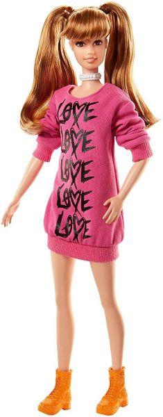 MATTEL FJF44 - Fashionistas - Barbie in pinkem Pullover-Kleid