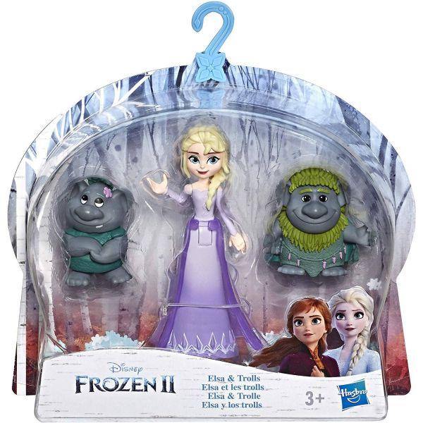 HASBRO E7078 - Disney Frozen II - Kleine Puppe mit Freund, ELSA & TROLLS