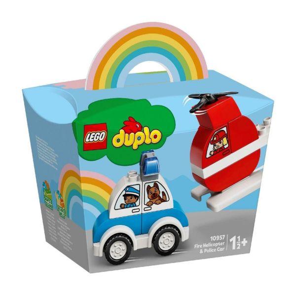 LEGO 10957 - Duplo - Mein erster Feuerwehrhubschrauber und mein erstes Polizeiauto