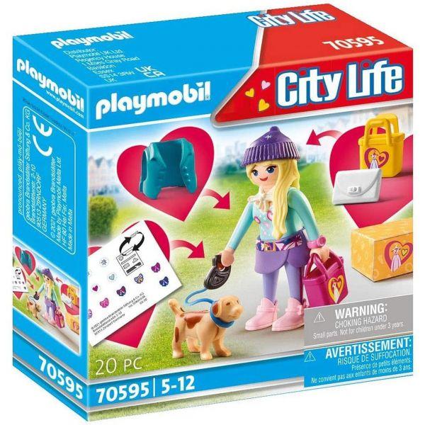 PLAYMOBIL 70595 - City Life - Fashion Girl mit Hund