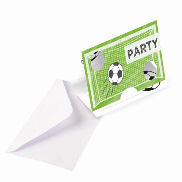 AMSCAN 9903016 - Geburtstag & Party - Einladungskarten Kicker Party, 8Stk