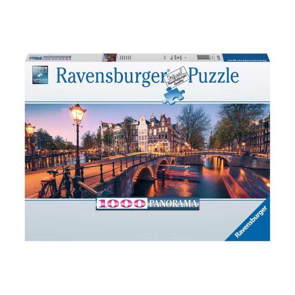 RAVENSBURGER 16752 - Puzzle - Abend in Amsterdam, Prinsengracht, 1000 Teile