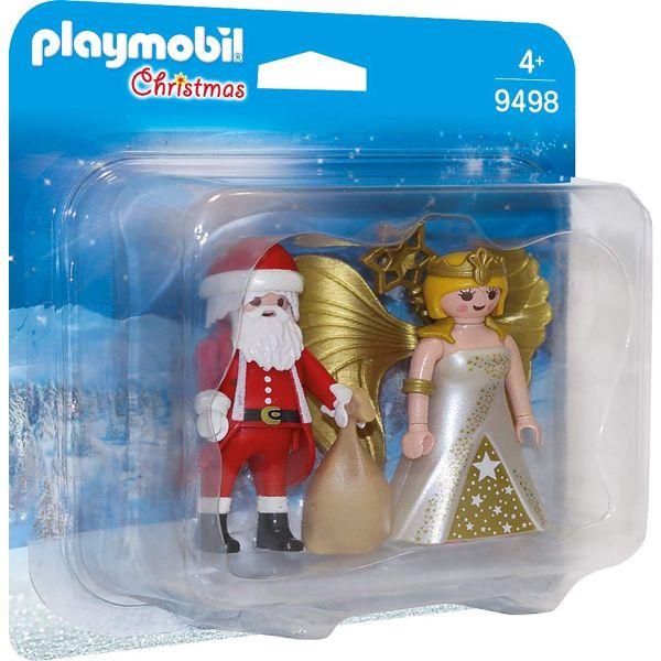 PLAYMOBIL 9498 - Christmas - Duo Pack - Weihnachsmann und Engel