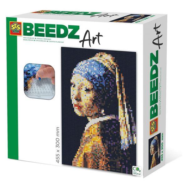 SES 06004 - Beedz Bügelperlen-Sets - Vermeer, Das Mädchen mit dem Perlenohrring