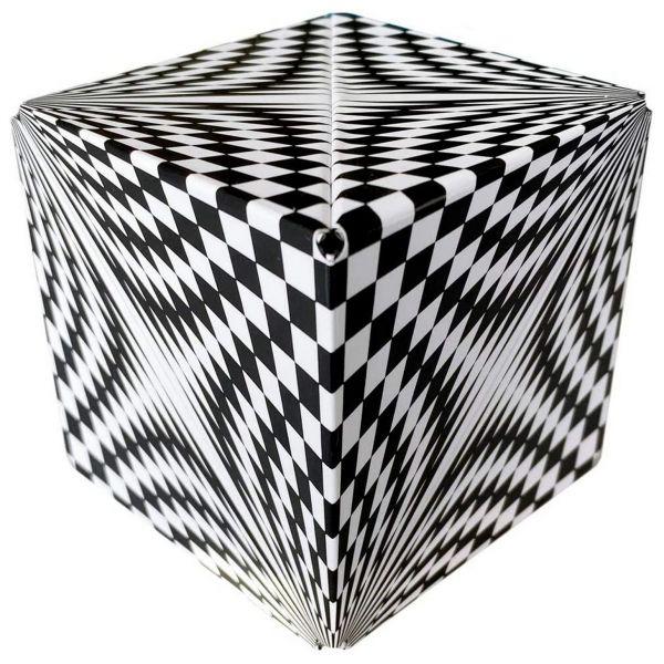 GeoBender 50095 - Magnetisches 3D-Puzzle - Abstract-2 schwarz-weiß