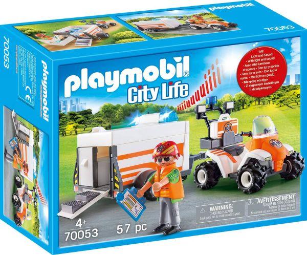 PLAYMOBIL 70053 - City Life Rettung - Quad mit Rettungsanhänger