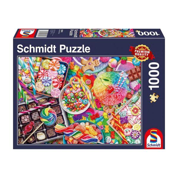 SCHMIDT 58961 - Puzzle - Candylicious, 1000 Teile