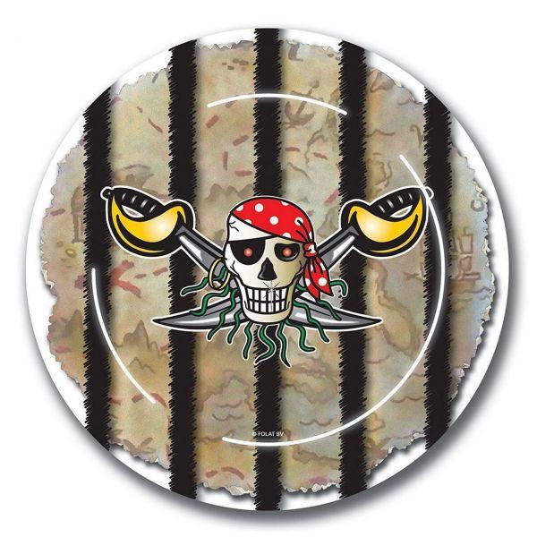 FOLAT 07640 - Geburtstag & Party - Piraten Papp-Teller, 23 cm