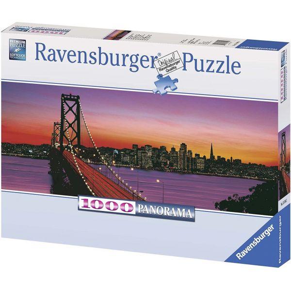 RAVENSBURGER 15104 - Puzzle - San Francisco, Oakland Bay Bridge bei Nacht, 1000 Teile