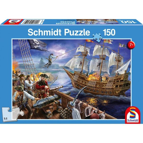 SCHMIDT 56252 - Puzzle - Abenteuer mit den Piraten, 150 Teile