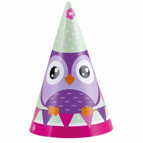 AMSCAN 998352 - Geburtstag & Party - Eule Party Hüte, 8 Stück