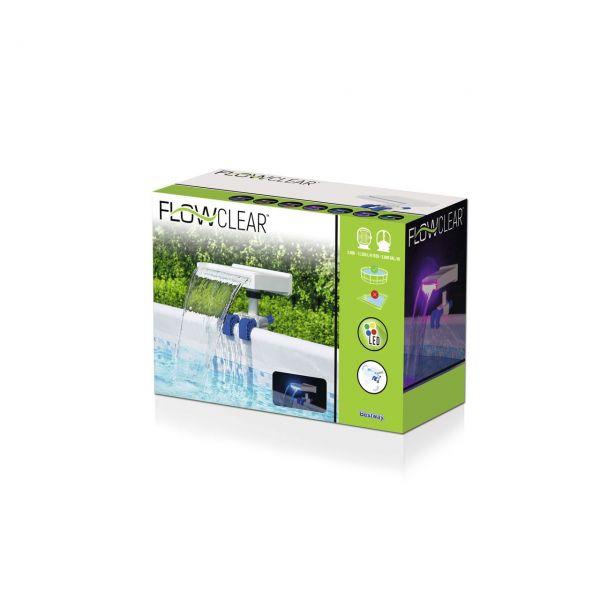 BESTWAY 58619 - Poolzubehör - Flowclear™ Wasserfall- & Bachlaufset mit LED-Licht