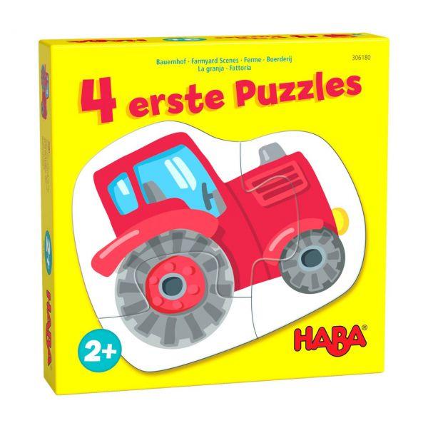 HABA 306180 - Puzzle - 4 erste Puzzles, Bauernhof, 2-4 Teile