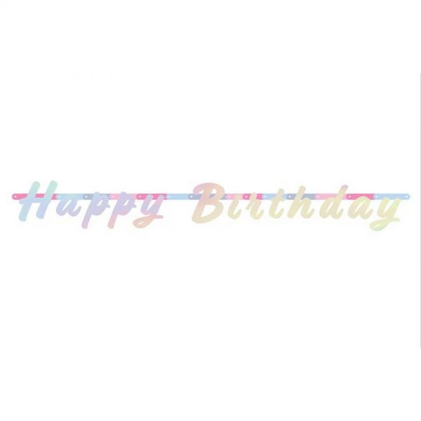 FOLAT 65249 - Geburtstag & Party - Partykette Happy Birthday Holo, 1,3 m