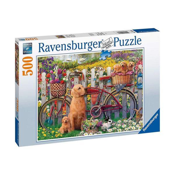 RAVENSBURGER 15036 - Puzzle - Ausflug ins Grüne mit Hunden, 500 Teile