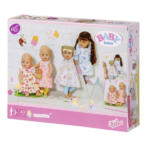 Zapf Creation 829424 - BABY born® - Deluxe 4 Jahreszeiten Set, 43cm