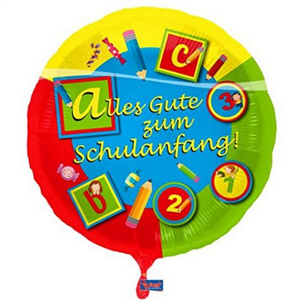 FOLAT 61800 - Geburtstag & Party - Folienballon Schulanfang, ca 43cm