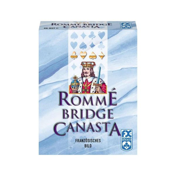 RAVENSBURGER 26957 - Kartenspiel - Rommé Bridge Canasta