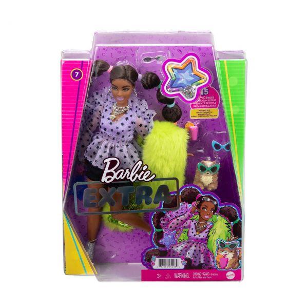 MATTEL GXF10 - Barbie - Extra Puppe mit Zöpfen und Bobble Haargummies