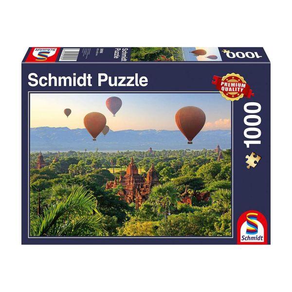 SCHMIDT 58956 - Puzzle - Heißluftballons, Mandalay, Myanmar, 1000 Teile