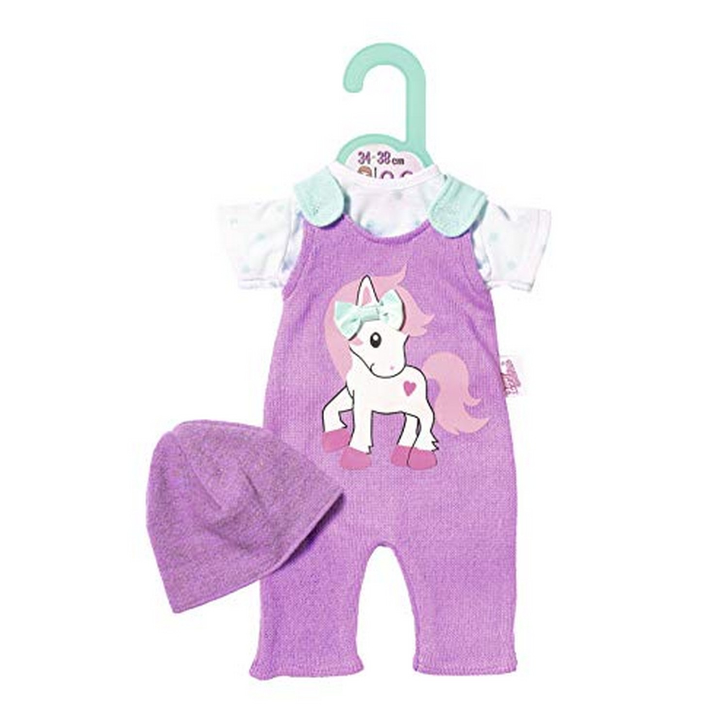 Zapf Creation 870570 Einhorn Strampler Dolly Moda 34-38 cm