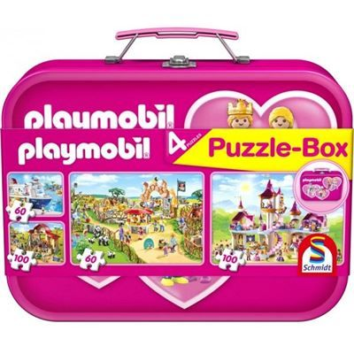 SCHMIDT 56498 - Puzzle Koffer - PLAYMOBIL, pink