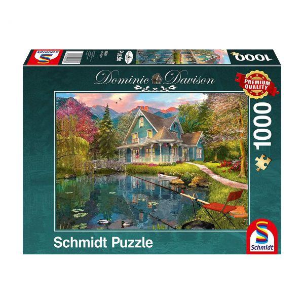 SCHMIDT 59619 - Puzzle - Dominic Davidson, Ruhesitz am See, 1000 Teile