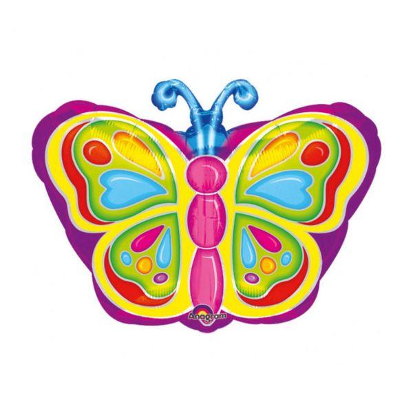 AMSCAN 0725501 - Folienballon - Schmetterling, 33x45cm