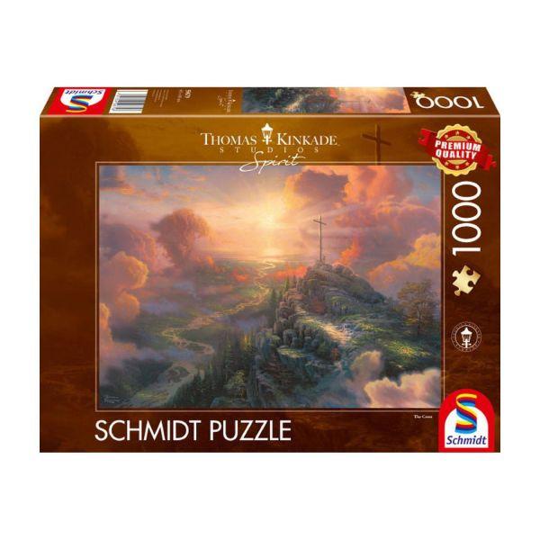 SCHMIDT 59679 - Puzzle - Thomas Kinkade, Das Kreuz, 1000 Teile