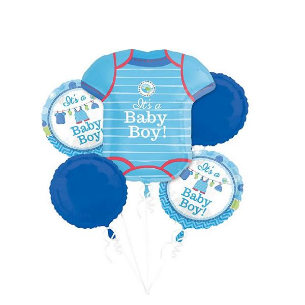 AMSCAN 30914 - Geburtstag & Party - Folienballon Set Its a boy