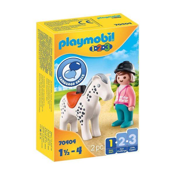 PLAYMOBIL 70404 - 1.2.3 - Reiterin mit Pferd