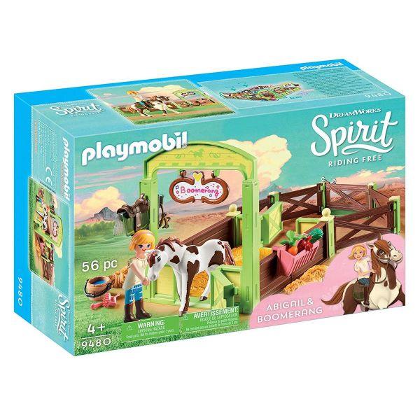 PLAYMOBIL 9480 - Spirit Riding Free - Pferdebox Abigail & Boomerang