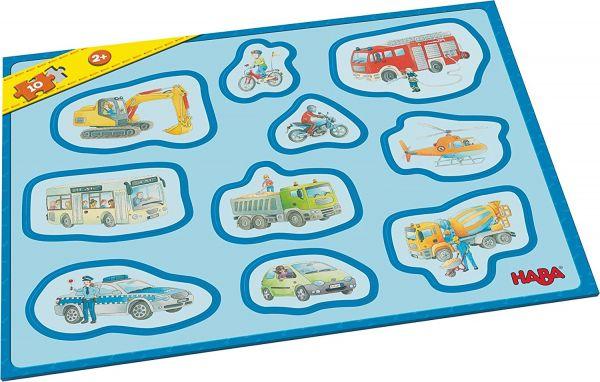 HABA 302840 - Meine ersten Rahmenpuzzles – Fahrzeuge