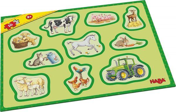 HABA 302839 - Meine ersten Rahmenpuzzles – Bauernhof