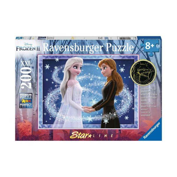 RAVENSBURGER 12952 - Puzzle - Disney Frozen - Bezaubernde Schwestern, 200 Teile XXL