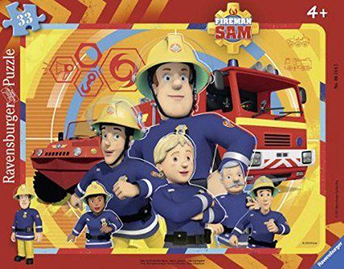 RAVENSBURGER 06114 - Puzzle - Feuerwehrmann Sam, 33 Teile