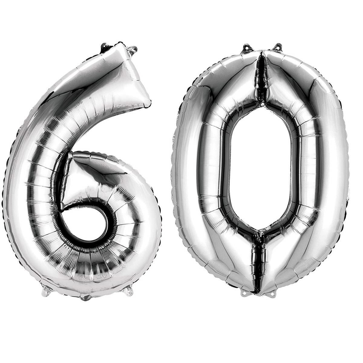 AMSCAN 33875 gold 90cm Folienballon Zahl 60