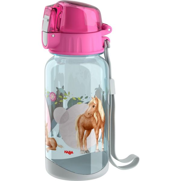 HABA 305705 - Kindergeschirr - Trinkflasche für Kinder, Pferde