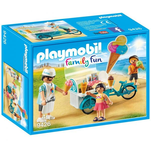 PLAYMOBIL 9426 - Family Fun Ferienvilla - Fahrrad mit Eiswagen