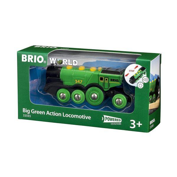 BRIO 33593 - Bahn - Grüner Gustav Batterielok