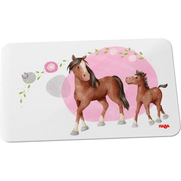 HABA 305703 - Kindergeschirr - Brettchen, Pferde