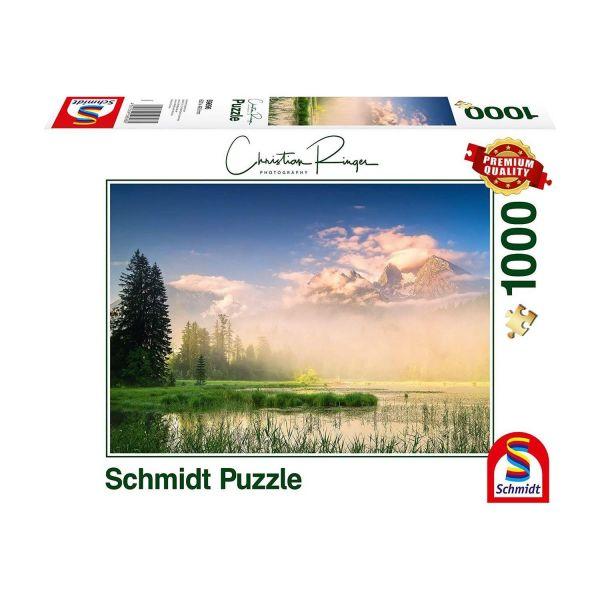 SCHMIDT 59696 - Puzzle - Christian Ringer, Taubensee, 1000 Teile